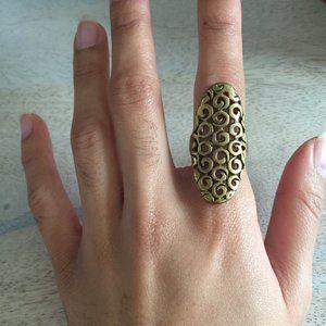 Swirly Gold Tone Ring